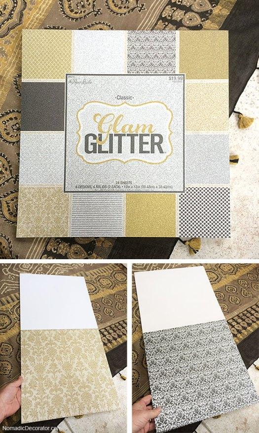 Glitter Scrapbook Paper Book