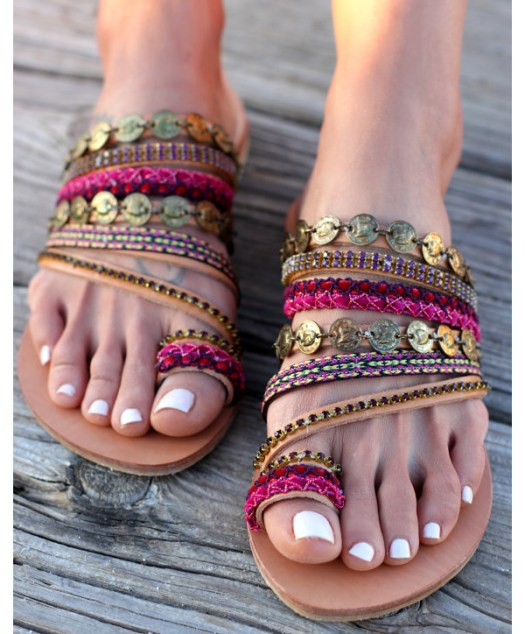 Dimitras Workshop Etsy Shop Boho Chic Sandals