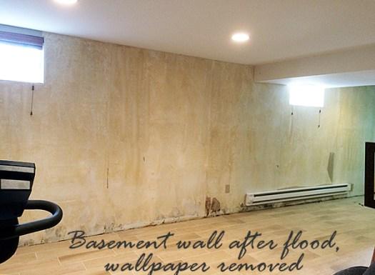Basement Wallpaper Removed