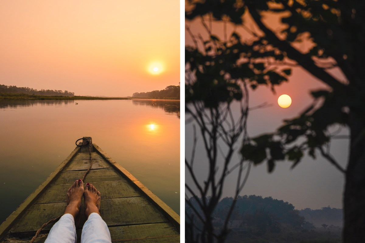 Sunrise views at Barahi Jungle Lodge