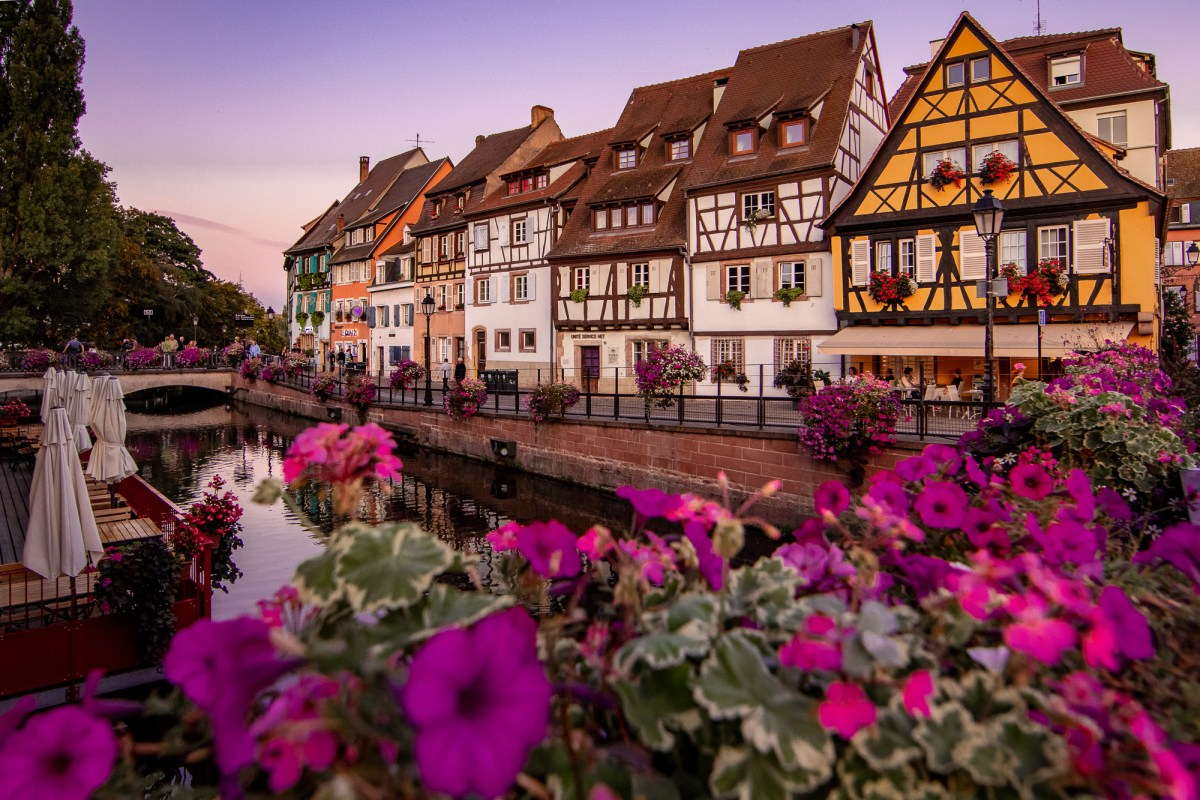 Night scene in Colmar, France