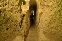 An ancient underground city where Christians took refuge during times of persecution.