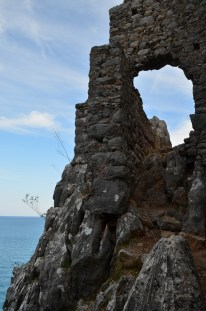 Ancient castle ruins on the shores of Cirali