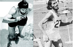 The resemblance between the original Milkha & Farhan Akhtar is striking