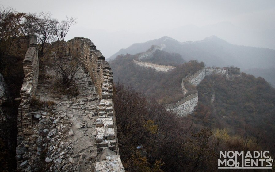 The Unrestored Section of The Great Wall on the Jiankou Section.