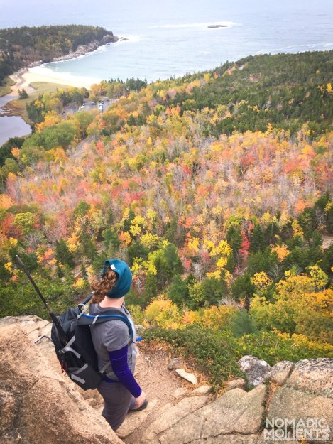 Hiker on the Beehive Trail
