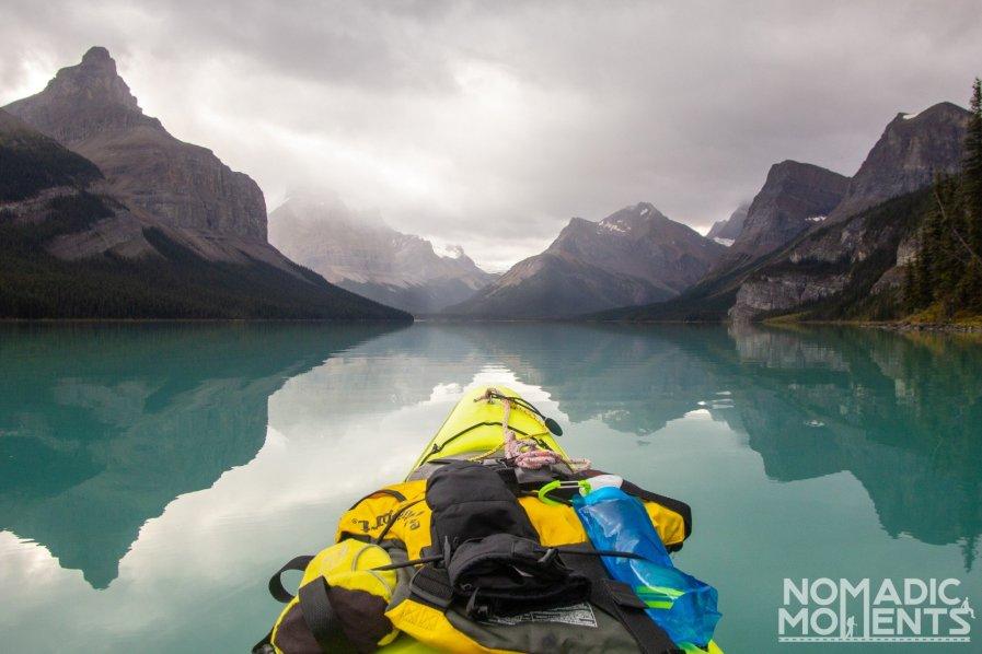 Kayaking Maligne Lake