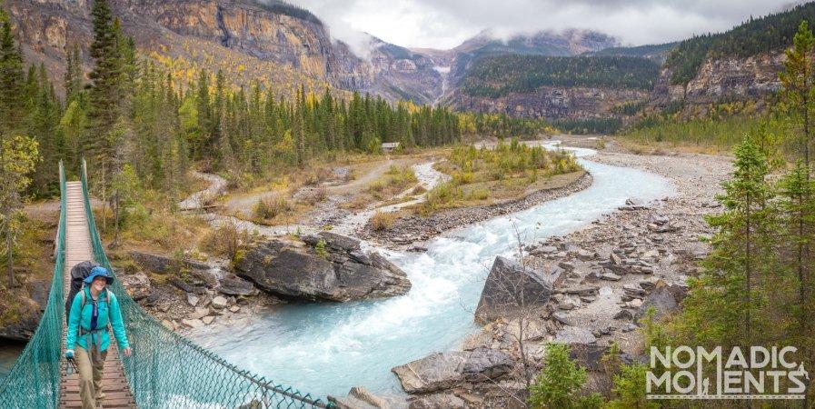 Berg Lake Trail Swinging Bridge