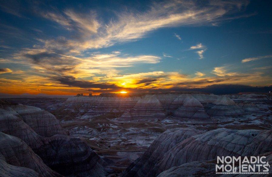 Blue Mesa Sunset