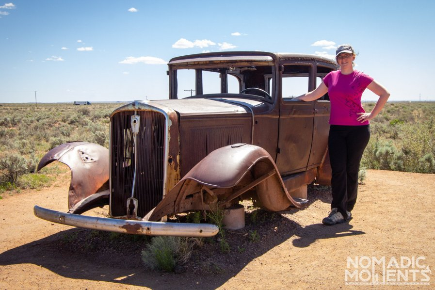 Route 66 Studebaker - Visiting the Petrified Forest