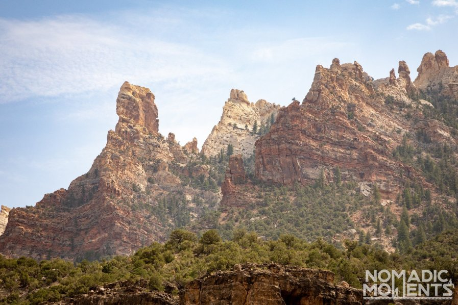 Split Mountain Canyon Formations