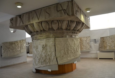 Replica of Trajan's Column at the National History Museum in Bucharest, Romania