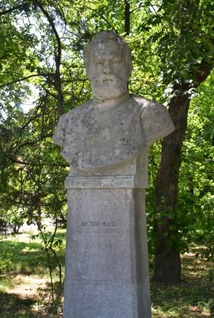 Bust of Victor Hugo at Parcul Herăstrău in Bucharest, Romania