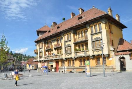 Piața Unirii in Braşov, Romania