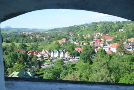 View from Bran Castle in Bran, Romania