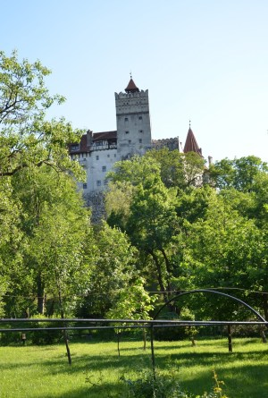Bran Castle from the road in Bran, Romania