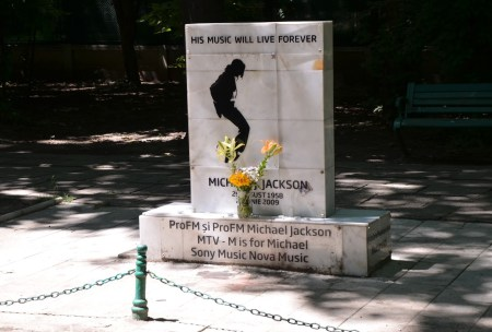 Michael Jackson memorial at Parcul Herăstrău in Bucharest, Romania