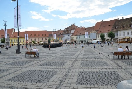 Piața Mare in Sibiu, Romania