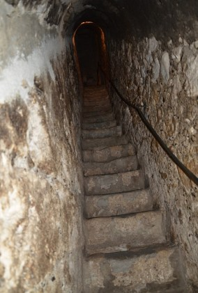 Secret passageway at Bran Castle in Bran, Romania