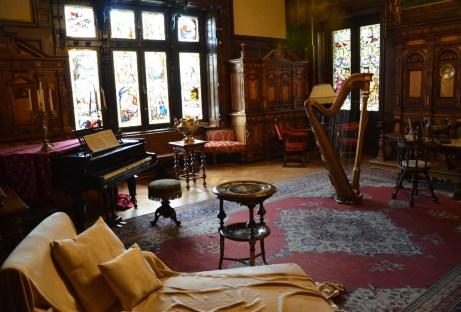 Music room at Peleș Castle in Sinaia, Romania