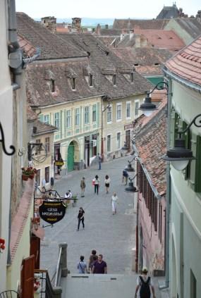 Lower Town in Sibiu, Romania