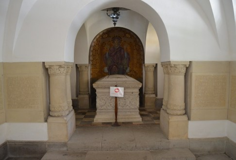 Tomb of Take Ionescu at Sinaia Monastery in Sinaia, Romania