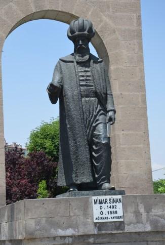 Mimar Sinan monument in Kayseri, Turkey