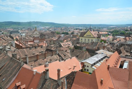 View from Turnul Sfatului in Sibiu, Romania