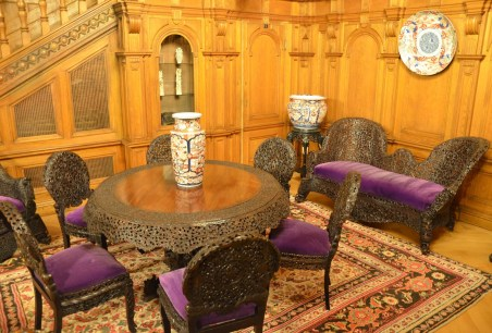 Reception room at Peleș Castle in Sinaia, Romania