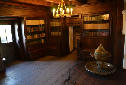 Library at Bran Castle in Bran, Romania