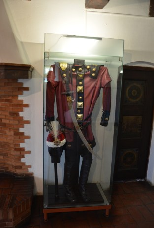 Soldier's uniform at Bran Castle in Bran, Romania