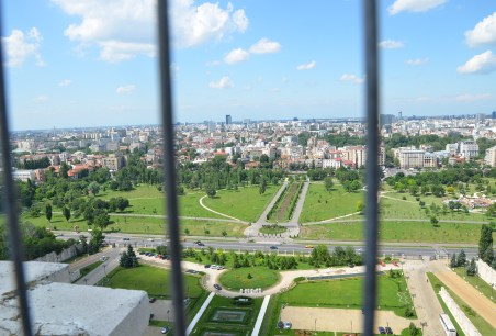 View from the terrace at Palace of Parliament in Bucharest, Romania