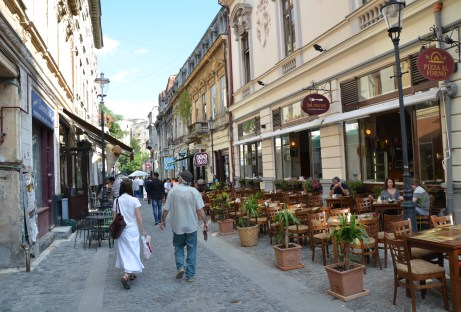 Old Town in Bucharest, Romania
