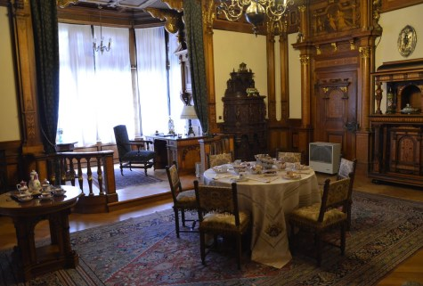 Breakfast room at Peleș Castle in Sinaia, Romania