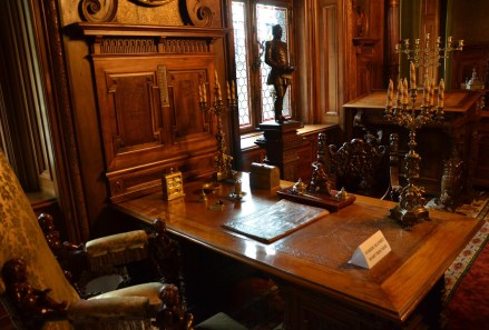King's office at Peleș Castle in Sinaia, Romania