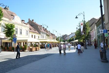 Strada Nicolae Bălcescu in Sibiu, Romania