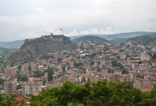 View from the Saat Kulesi in Kastamonu, Turkey