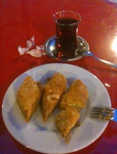Baklava at Kazan Ocağı in Safranbolu, Turkey