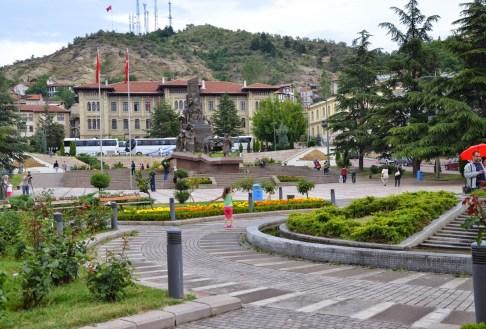 Kastamonu Valiliği and Cumhuriyet Meydanı in Kastamonu, Turkey