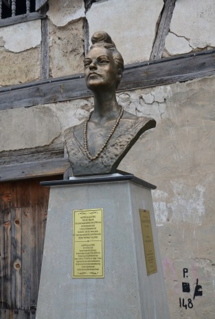 Bust of Leyla Gencer in Yörükköyü, Turkey