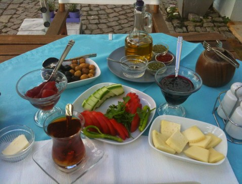Breakfast at Nar Adaevi in Bozcaada, Turkey
