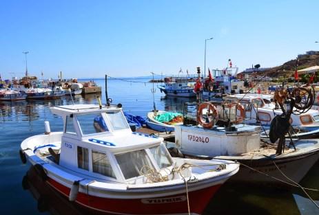 Harbor in Bozcaada, Turkey