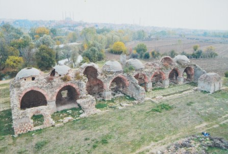 Palace kitchen before restoration at Sarayiçi in Edirne, Turkey