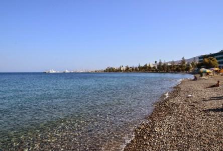 Bus terminal beach in Kos, Greece