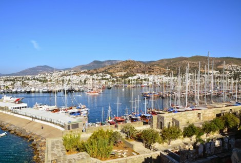 Harbor in Bodrum, Turkey