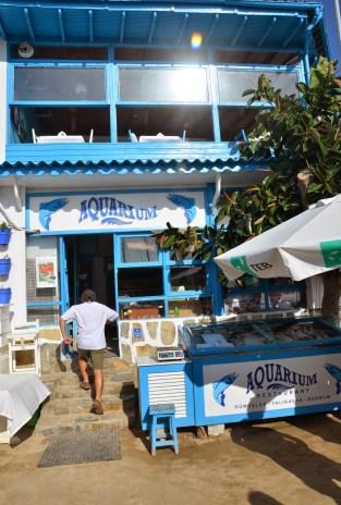 Aquarium Restaurant in Gümüşlük, Turkey