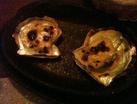 Oysters with cheese at Orfoz in Bodrum, Turkey