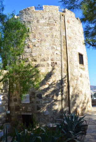 Spanish Tower at the Castle of St. Peter in Bodrum, Turkey