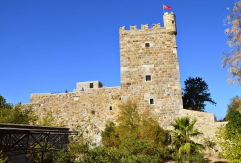 French Tower at the Castle of St. Peter in Bodrum, Turkey