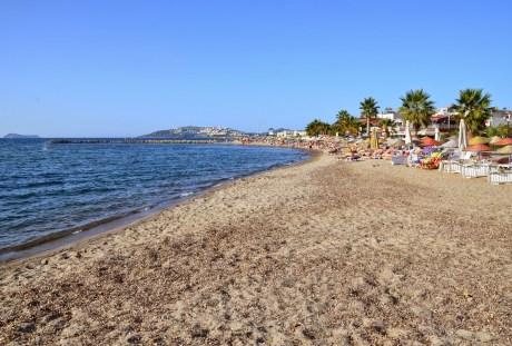Beach in Turgutreis, Turkey